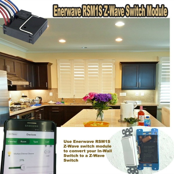 Enerwave Z-Wave Plus Smart Hidden Switch