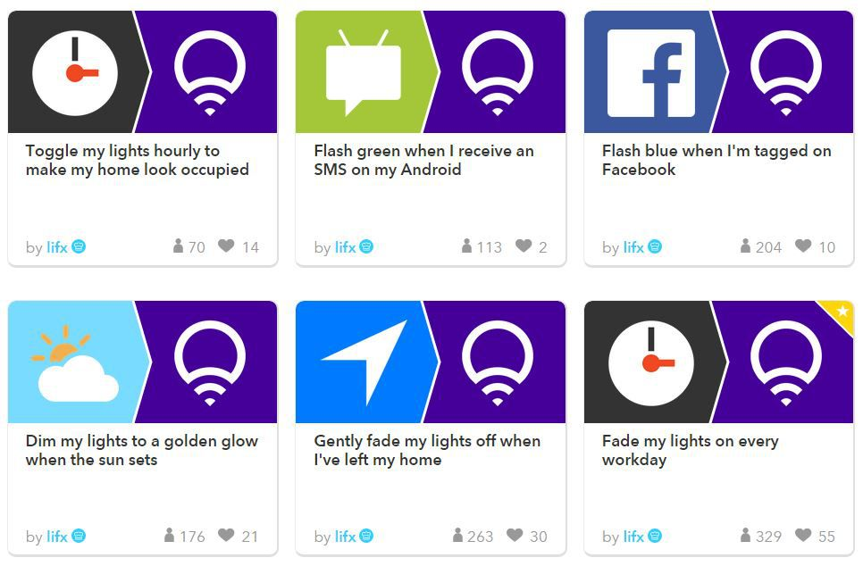 IFTTT Recipes for Lifx