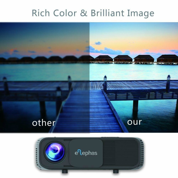 ELEPHAS 1080P HD LED Movie Projector