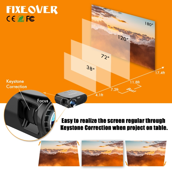 Fixeover Video Projector